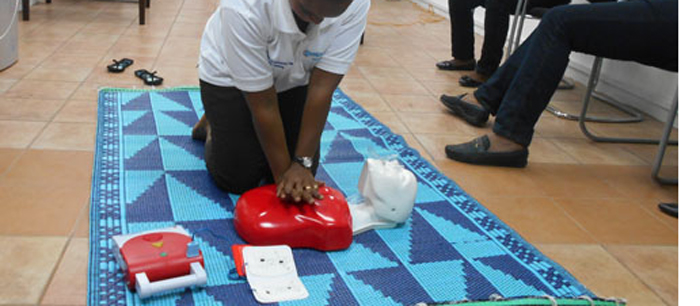 First Aid Training Session with Workers of the British Commission in Yaounde