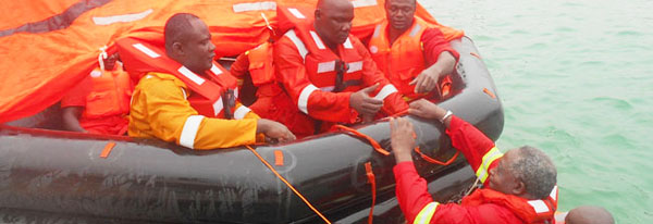 Sea Survival Training and HUET Cameroon